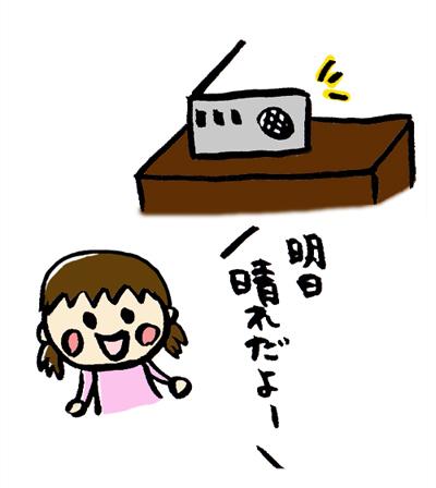 ラジオを活用して家庭学習をする様子