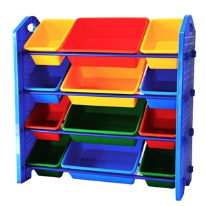 MAMENCHI 玩具棚 カラフル収納おもちゃ棚 T-0257
