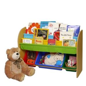 おかたづけ上手 おもちゃ箱1段+絵本棚 8213-V ヴィヴィッド