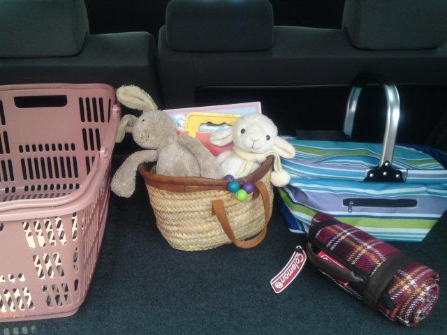 赤ちゃん旅行1車内