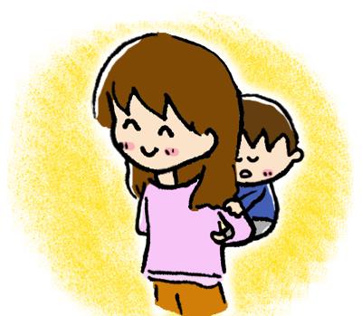 お母さんに抱っこしてもらう自閉症児