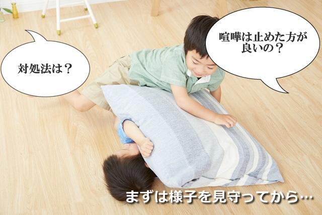 幼児たちの兄弟喧嘩