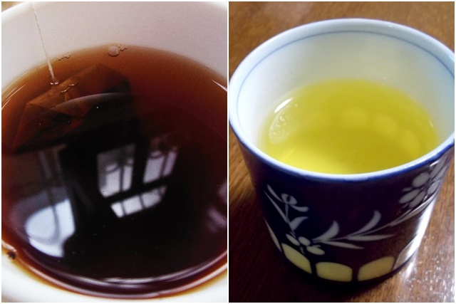 紅茶と緑茶