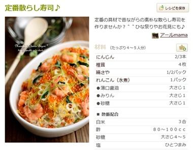 定番散らし寿司♪