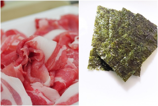 豚肉と海苔