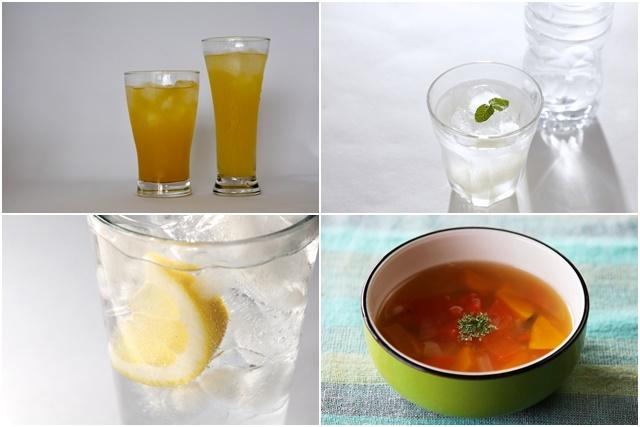 ジンジャエールやスープ