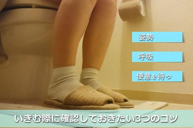 トイレに入っている女性