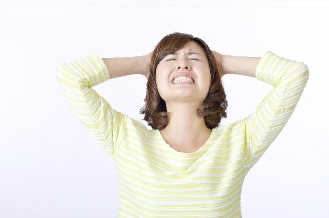 ストレスを抱える妊婦さん