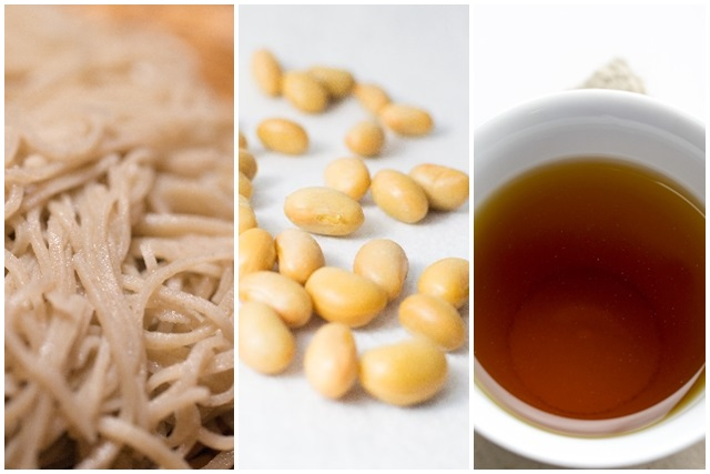 そばと大豆とお茶