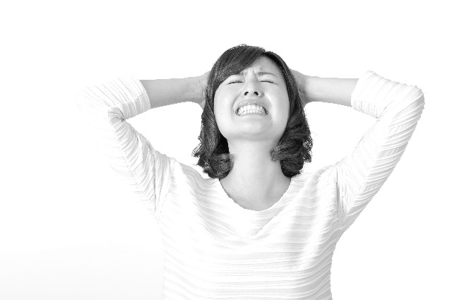 ストレス気味な女性