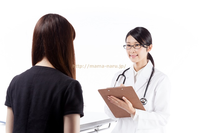 検診を受ける女性