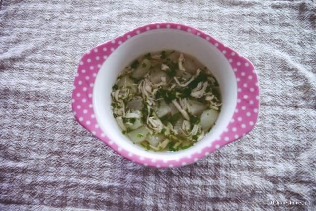 かぶのささみスープ