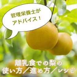 管理栄養士がアドバイス!離乳食での梨の使い方/進め方/レシピ