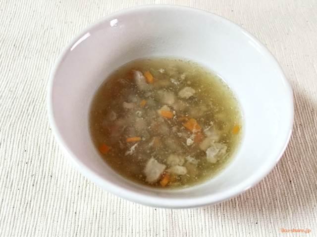 まぐろのあんかけスープ