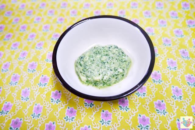 小松菜ペーストの白和え