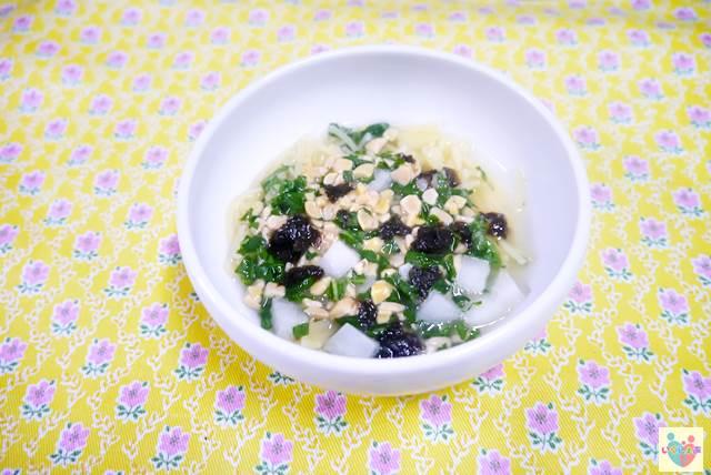 小松菜と納豆の和風スープパスタ