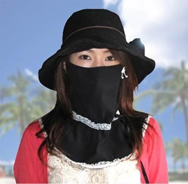 UV対策マスク フェイスONワンピ