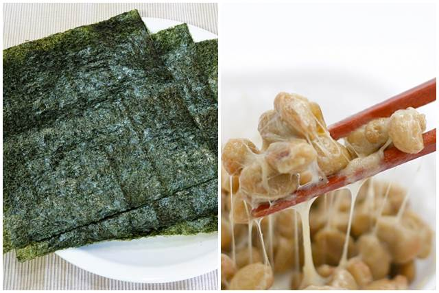 納豆と焼き海苔