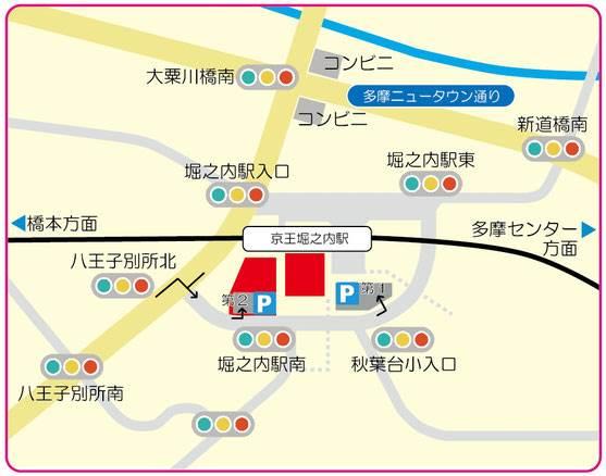 東京あそびマーレの駐車場