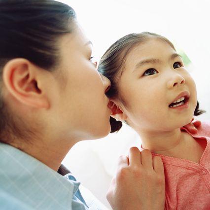 面接の練習をする親子