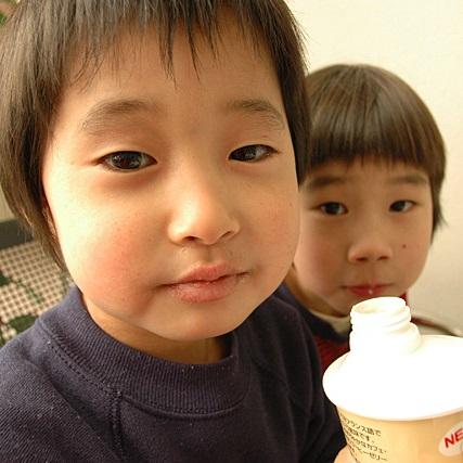 ダウン症児と弟