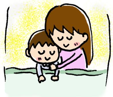 お母さんと一緒に寝る自閉症児