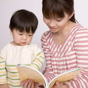 1歳児とお母さん