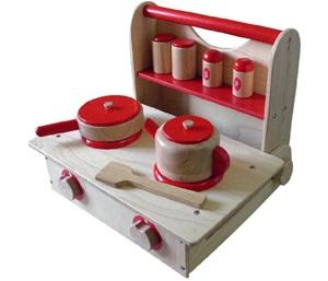 木のおもちゃ ままごと キッチン セット 「クッキングレンジセット 2」