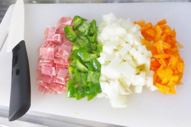 みじん切りにした野菜