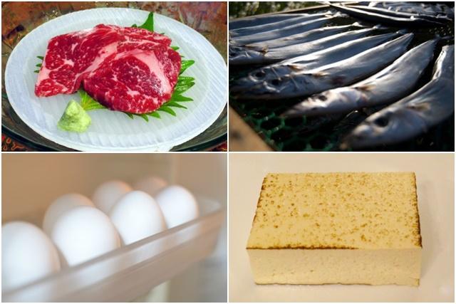 肉や卵、魚
