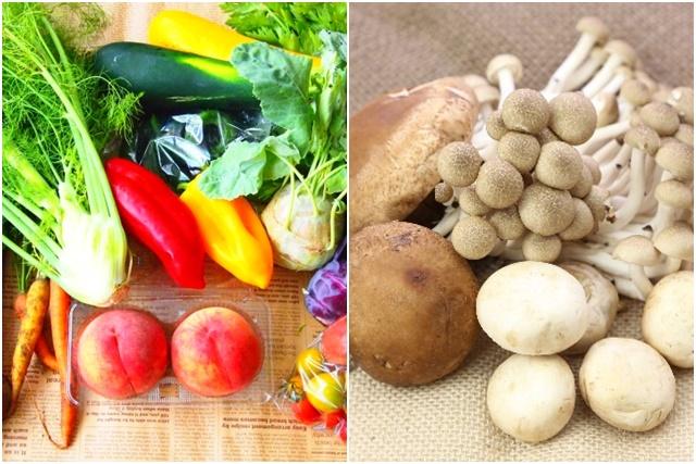 野菜やキノコ類
