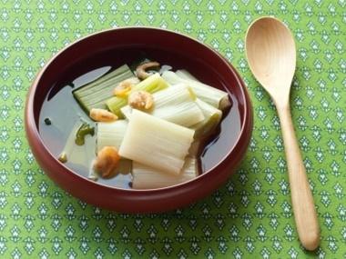 下仁田ねぎと干しエビのスープ煮