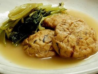 がんもと小松菜の含め煮