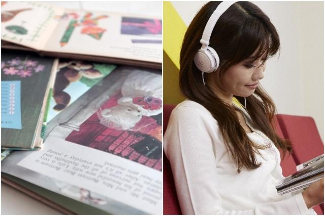 音楽を聴く妊婦さん