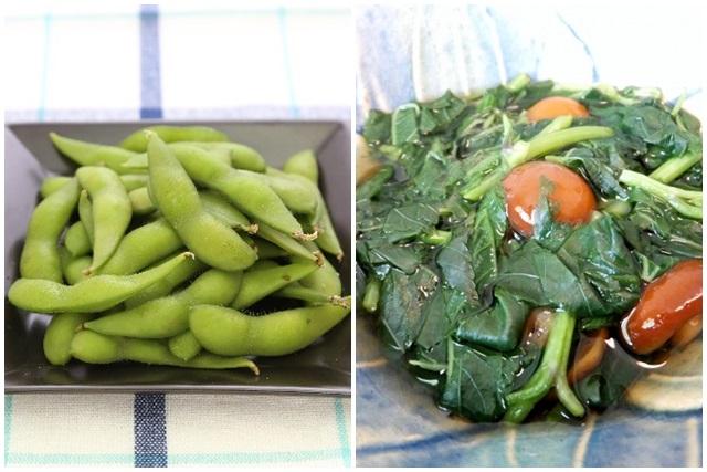 枝豆とモロヘイヤ