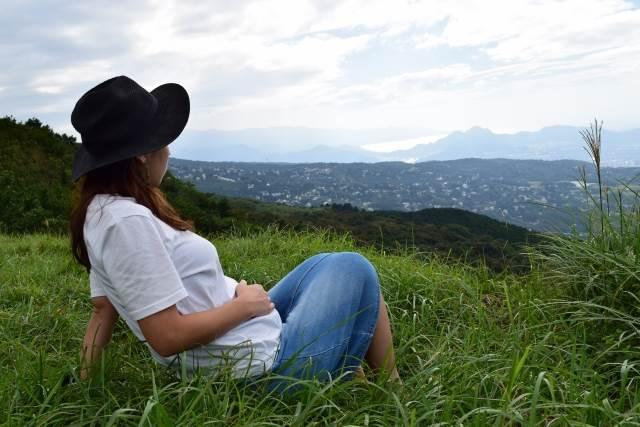 旅行中の妊婦さん