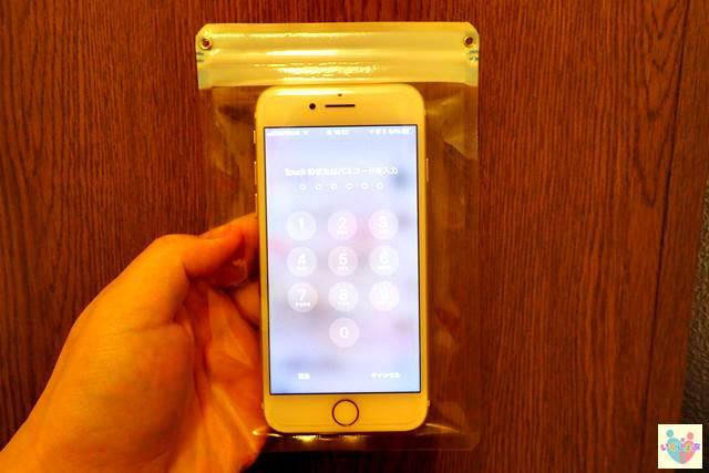 簡易防水ソフトケース スマートフォン用の操作性を検証