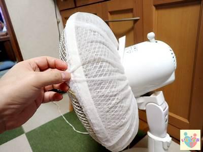 扇風機ホコリ取りフィルターの取り付け