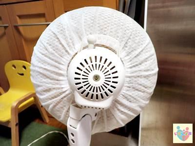 扇風機ホコリ取りフィルターの取る付け完了