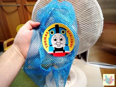 トーマス柄の扇風機カバー