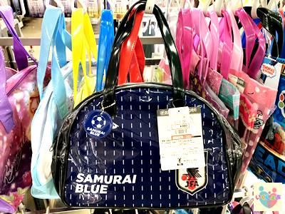 サッカー日本代表のSAMURAI BLUEデザインのプールバック